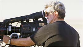 George Lucas with the Sony F900 on Episode 2