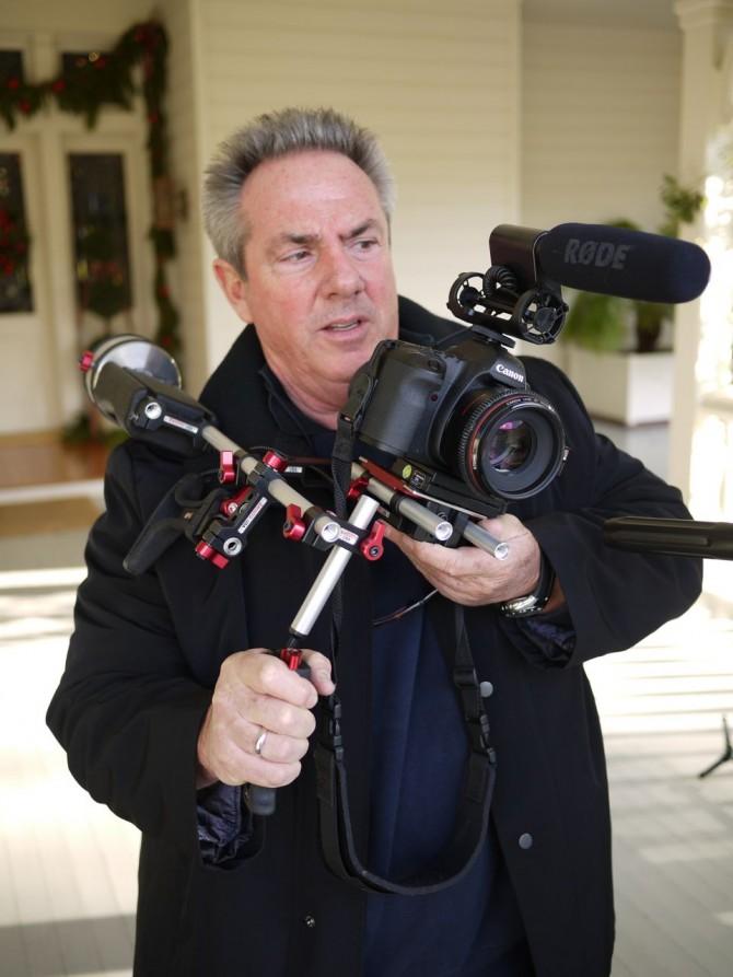 Rick McCallum with the Zacuto sniper kit