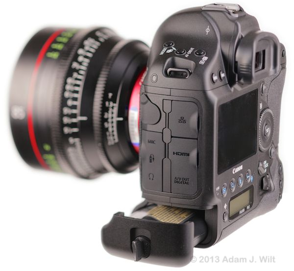 Canon 1D C and its battery
