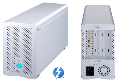 Netstor Thunderbolt Expansion Chassis, Optical TB Application